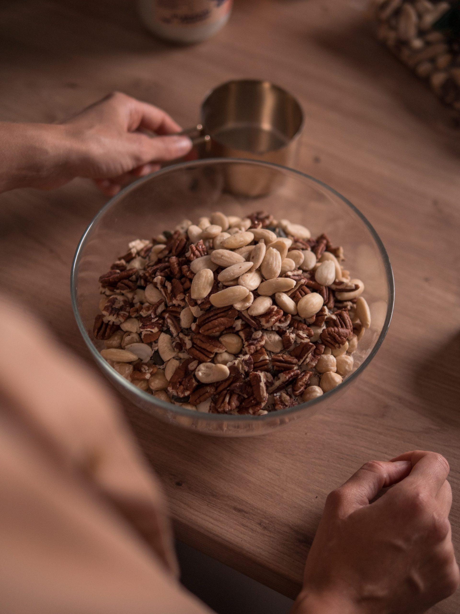granola recept oříšky ořechy